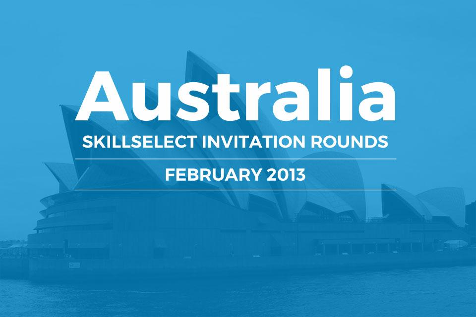 Australia SkillSelect invitation rounds February 2013