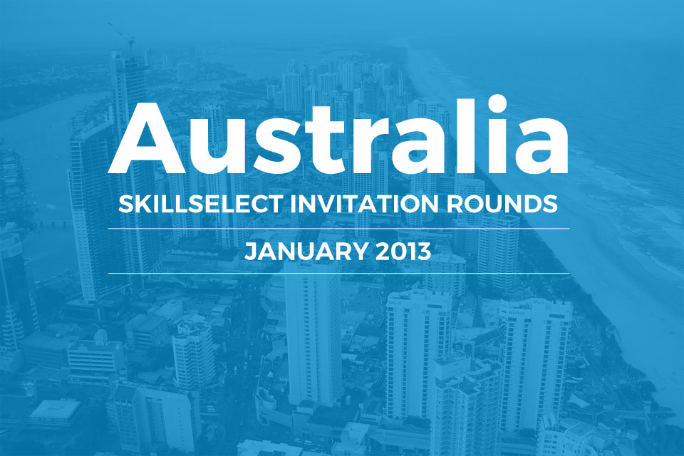 SkillSelect January 2013 Invitation Rounds