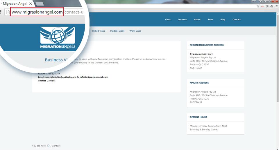 Australian job scam copycat website