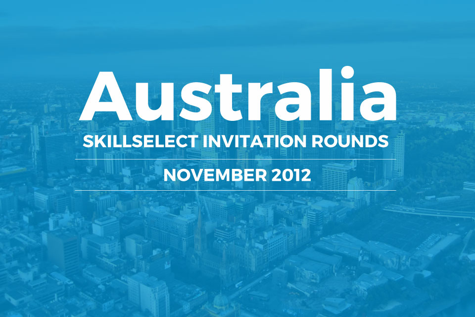 Australia SkillSelect November invitation rounds 2012