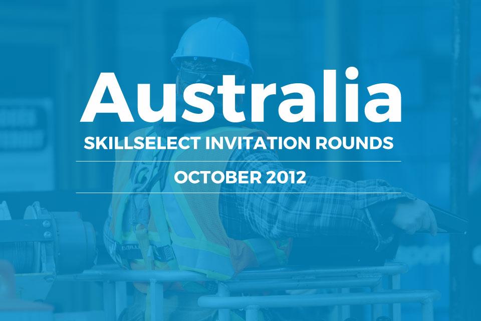 Australia SkillSelect invitation rounds October 2012