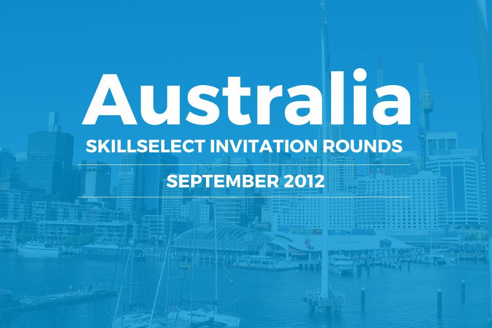 SkillSelect invitation rounds September 2012