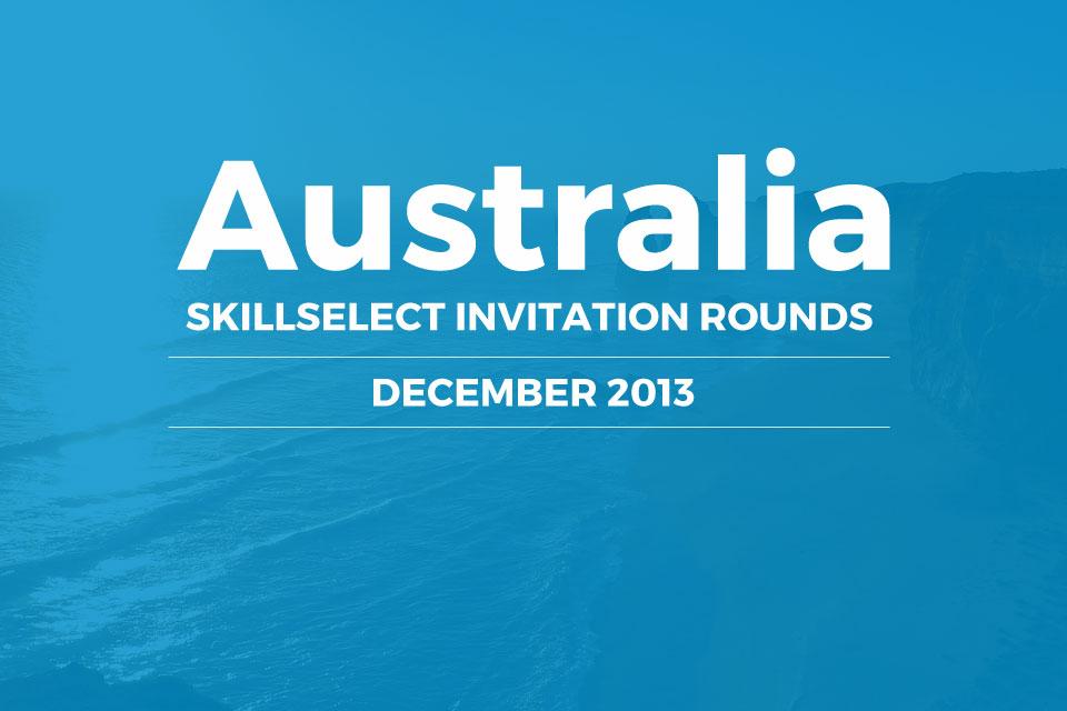SkillSelect December 2012 Invitation Rounds
